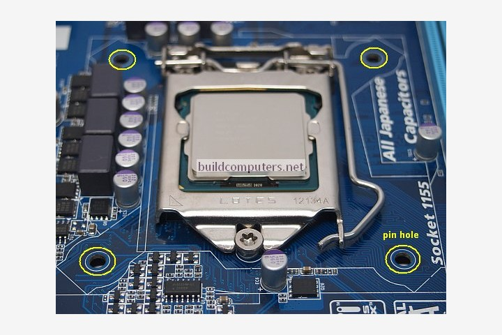 Motherboard Pin Holes