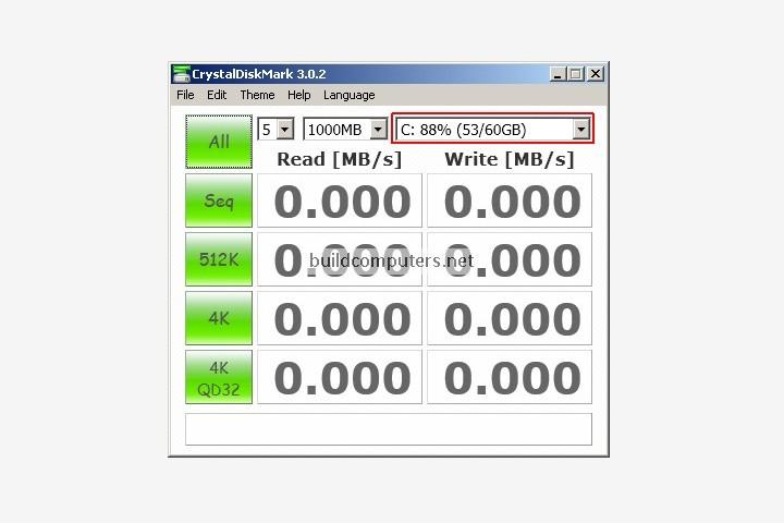 CrystalDiskMark Screenshot