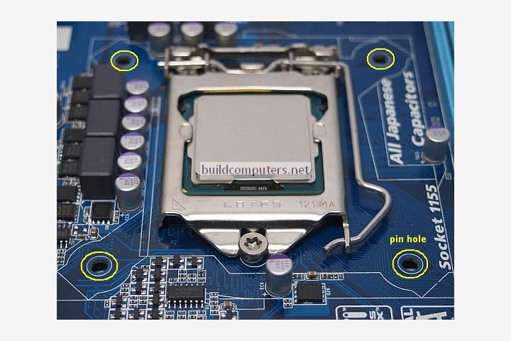 Motherboard Pin Holes