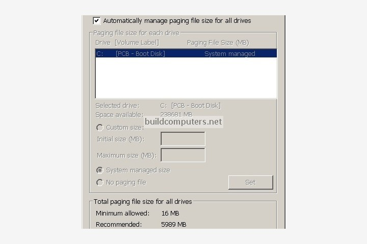 Windows Paging File